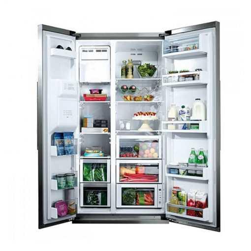 نمای داخلی یخچال و فریزرساید بای سایدبوش مدل KAD80A404 1 510x510 1