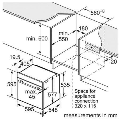 اندازه سه بعدی فر و مایکروویو توکار بوش مدل HMG636BS1 510x510 1