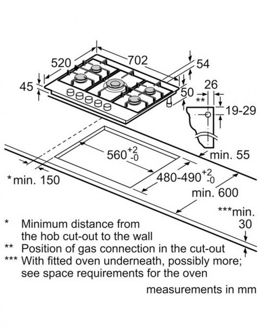 صفحه اجاق گاز PCQ715M90E