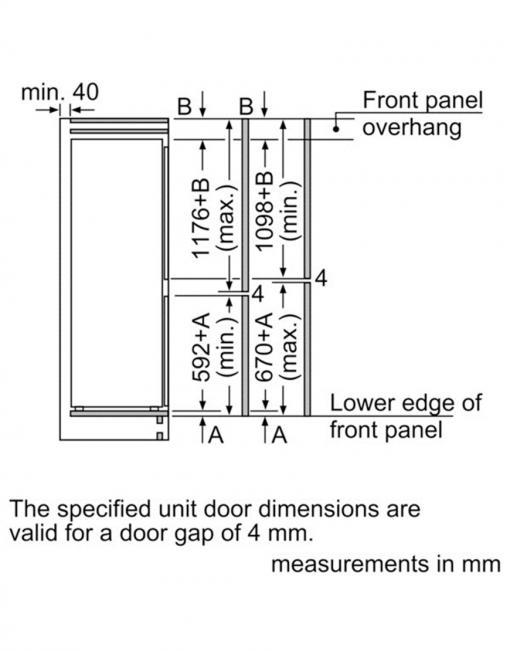 یخچال فریزر توکار KIV38X22GB